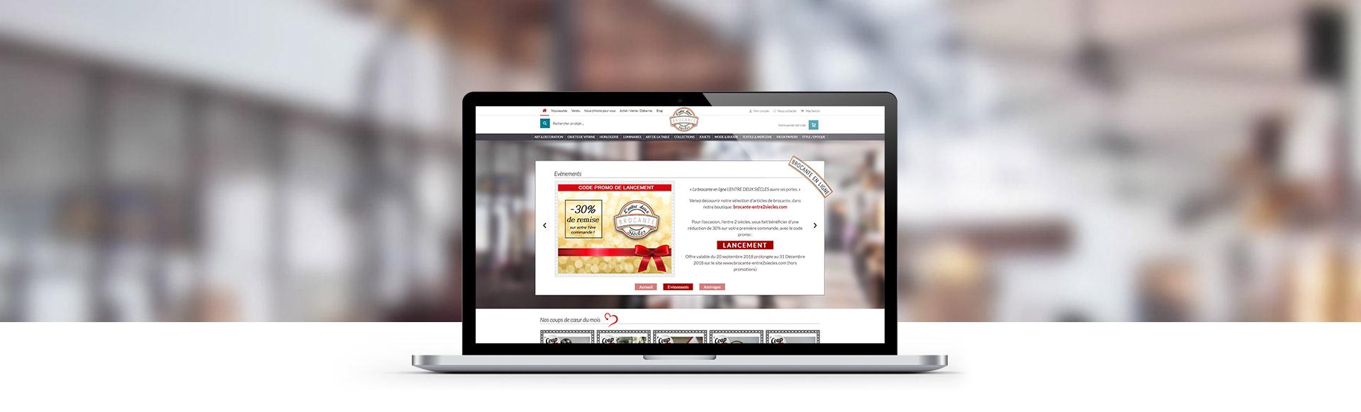 Création site de brocante en ligne