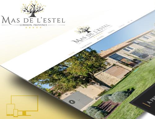 Création site vitrine pour chambres d'hôtes Mas de l'Estel Vaucluse