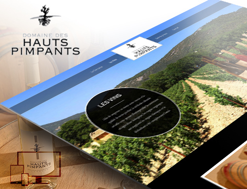 Conception du site du domaine des Hauts Pimpants à Lourmarin