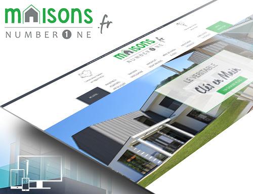 Création du site vitrine de Maisons Number One